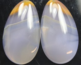 40.30 CTS DENDRITIC AGATE PAIR OF POLISHED STONES