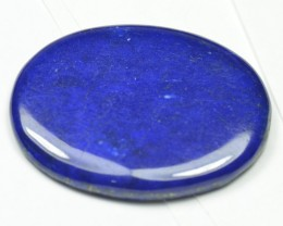 36mm oval Lapis Lazuli  cabochon AAA color  36 x 27.5 x 3.5