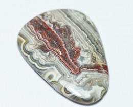 Large 44mm Red Lace Agate cabochon 44 by 31 by 4mm