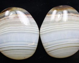21.60 CTS WYOMING AGATE PAIR OF POLISHED STONES