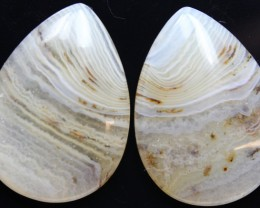 27.90 CTS WYOMING AGATE PAIR OF POLISHED STONES