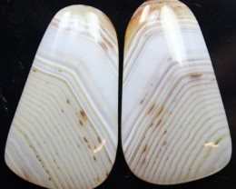 35.85 CTS WYOMING AGATE PAIR OF POLISHED STONES