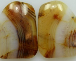 20.45 CTS WYOMING AGATE PAIR OF POLISHED STONES