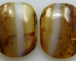 20.05 CTS WYOMING AGATE PAIR OF POLISHED STONES