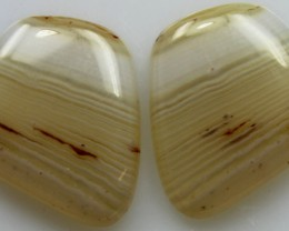 20.95 CTS WYOMING AGATE PAIR OF POLISHED STONES