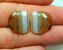 22.90 CTS WYOMING AGATE PAIR OF POLISHED STONES