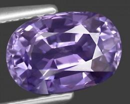 1.59ct Purple Sapphire Sri Lanka oval 8mm color change heat only VVS2 certi