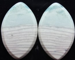 26.90 CTS WAVE JASPER PAIR FLAT CAB POLISHED STONE