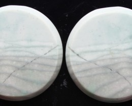 39.75 CTS WAVE JASPER PAIR FLAT CAB POLISHED STONE