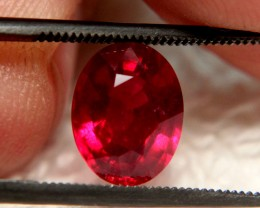 3.31 Carat Pidgeon Blood VS Ruby - Fiery and Beautiful