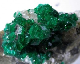 115 CTS DIOPTASE SPECIMEN-EMERALD GREEN [ST7634 ]