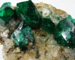 25.60 CTS DIOPTASE SPECIMEN-EMERALD GREEN [ST7639 ]