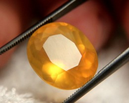 8.91 Carat Golden Mexican Fire Opal - Lovely Gem