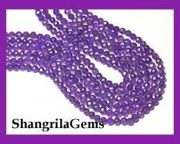 """AAA African Amethyst 4mm 14"""" line faceted beads"""