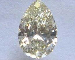 0.86cts CERTIFIED NATURAL DIAMOND PEAR SHAPE R-S/VS1