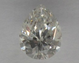 0.40cts CERTIFIED NATURAL DIAMOND PEAR SHAPE I/SI1
