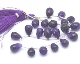 10 12 to 15mm Amethyst briolettes Supreme quality