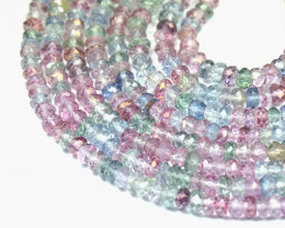 Mystic Quartz faceted 3mm beads multi-colored 14 inch line