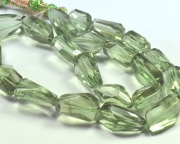 "16"" line 20 - 23mm AAA irregular cut Prasiolite green beads"
