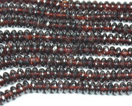 "AA MOZAMBIQUE GARNET beads 14"" line 5 to 9mm"