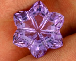 11.84 CTS VVS AMETHYST FLOWER CARVING  -BRAZIL [AME17]