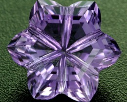 11.61 CTS AMETHYST FLOWER CARVING  -BRAZIL [AME15]