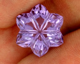 10.23 CTS AMETHYST FLOWER CARVING  -BRAZIL [AME13]