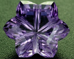 9.96 CTS AMETHYST FLOWER CARVING  -BRAZIL [AME12]