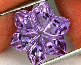 8.09 CTS AMETHYST FLOWER CARVING  -BRAZIL [AME10]