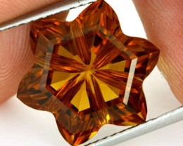 11.24 CTS VVS CITRINE FLOWER - CUT BY MASTER CARVER [CIT19]