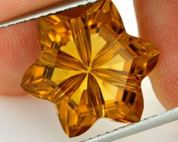 10.86 CTS VVS CITRINE FLOWER - CUT BY MASTER CARVER [CIT17]