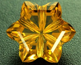 9.51 CTS VVS CITRINE FLOWER - CUT BY MASTER CARVER [CIT16]