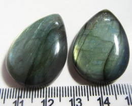 94.65 CTS PAIR  LABRADORITE GEMSTONE MS1508