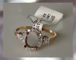 WHITE DIAMONDS & SOLID 10kt YG ~ READY TO ADD YOUR OWN TOUCH