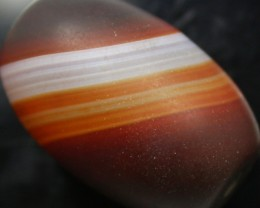 96.75 CTS BANDED AGATE DRILLED LARGE BEAD