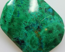 35.00CTS TOP CHRYSOCOLLA GREEN/BLUE POLISHED STONE FROM PERU
