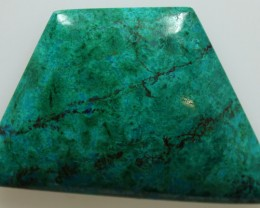 56.00CTS TOP CHRYSOCOLLA GREEN/BLUE POLISHED STONE FROM PERU