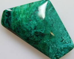 36.70CTS TOP CHRYSOCOLLA GREEN/BLUE POLISHED STONE FROM PERU
