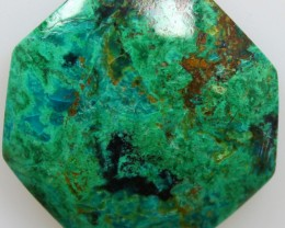 27.55CTS TOP CHRYSOCOLLA GREEN/BLUE POLISHED STONE FROM PERU