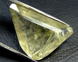 RUTILATED QUARTZ -GOLDEN NEEDLES & GREEN TOURMALINE GG808