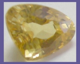 VERY PRETTY 'AAA' 0.75CT CANARY YELLOW SAPPHIRE TRILLION!!