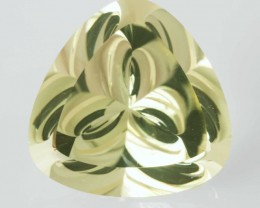 5.52ct PRECISION HANDFACETED LEMON CITRINE GEM - THE LIQUID FLOWER