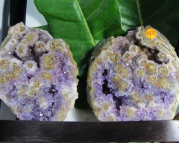1.28 KILO TWIN AMETHYST   SPECIMEN  ON WOOD STAND MS 1897