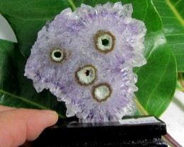 350CTS AMETHYST STALACTITE   SPECIMEN  ON WOOD STAND MS 1907