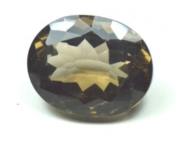44.80ct Smokey Quartz oval faceted gemstone 26 by 20 by 13mm
