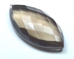32mm marquise SMOKEY QUARTZ  gem 32 by 16 by 8mm 29.65ct