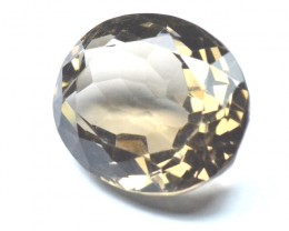 25mm 40.85ct oval SMOKEY QUARTZ gem 25 by 20 by 12mm