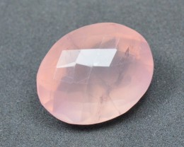 17mm 13ct designer shape pink Rose quartz faceted gemstone