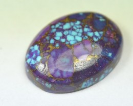 22mm Purple and blue Mojave Bronzed TURQUOISE cabochon
