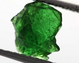 1.43 CTS TSAVORITE (GREEN GARNET) ROUGH CRYSTAL [MGW3465